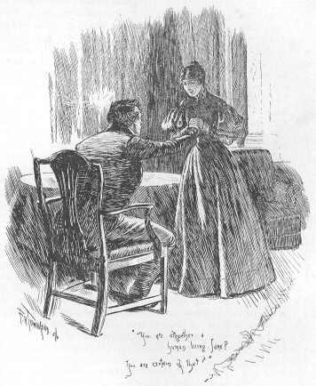Jane i Rochester finalment reunits. Il·lustració de F. H. Townsend a l'edició que es troba al Projecte Gutenberg